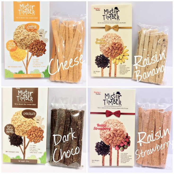 Mister Timber, A #Healthy way to #Snacking, made from oatmeal 4 Flavor: Dark Chocolate, Cheese, Raisin Banana, Raisin Strawberry @ Rp. 17,000,00 Contact Simon 087881763002