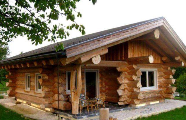 Harghita Casa Din Lemn Rotund Bustean Necalibrat Sarmas Imagine 5 House Styles Cabin Homes Small House