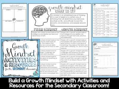 Growth Mindset Writing Prompts. High School. Middle School. Teaching Growth Mindset. Back to School. End of the Year.