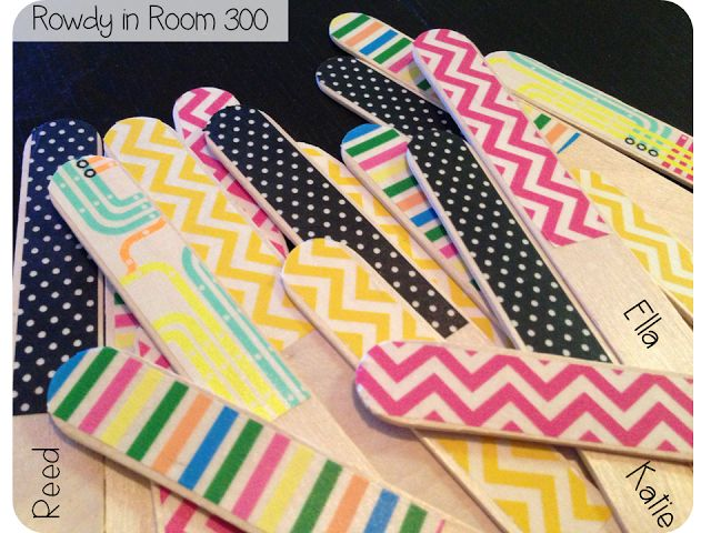 Decorate one side with Washi Tape and put students names on the other to pick students, make groups, or anything!!