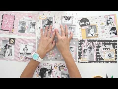 Cómo hacer el mini álbum Diamante - Estructura y decoración - TUTORIAL Scrapbook - YouTube