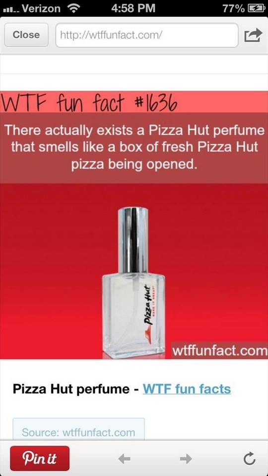 funny facts pizz hut perfume