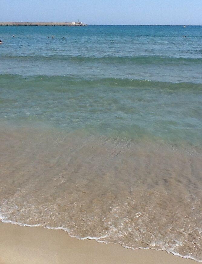 Beautiful sandy beach at Rethymno, Crete