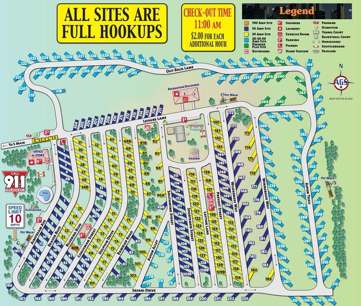 Rv Resort Map Rv Resorts Pinterest Resorts And Maps