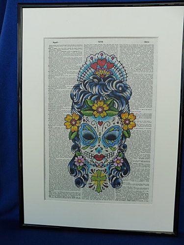 Sugar Skull Woman Dia de los Muertos Poster Dorm by DecorisDesigns