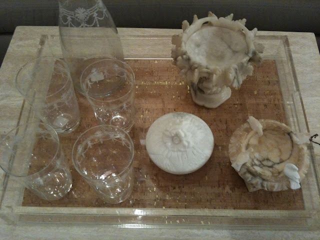 Cork and Lucite Tray at Nancy Price Interiors