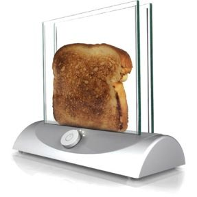 Concept toaster solves age-old problem you can see your toast as it browns