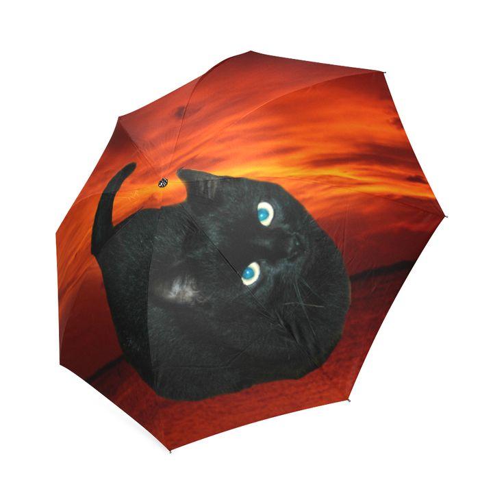 Black Cat Foldable Umbrella