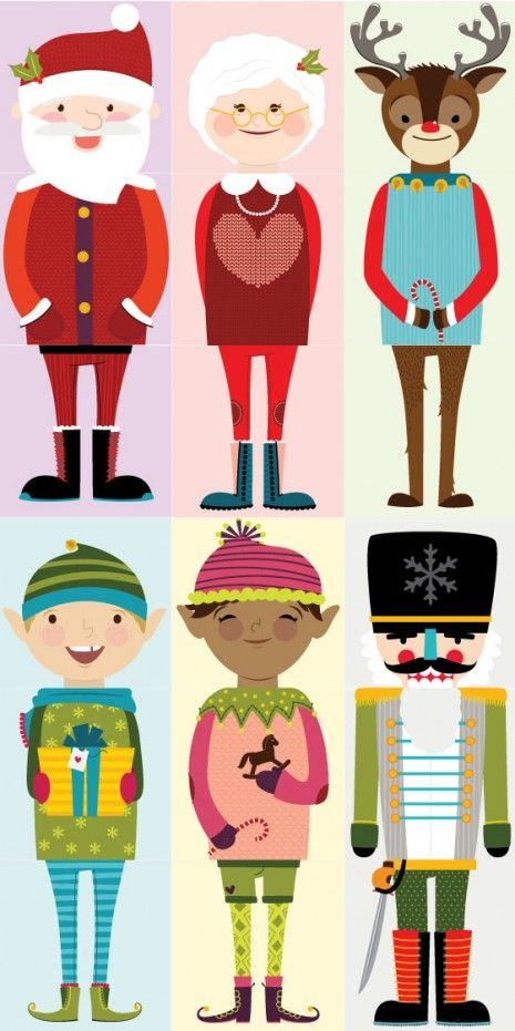 $5 Printable Christmas characters for Olliblocks, by Alma Loveland for caravanshoppe.com