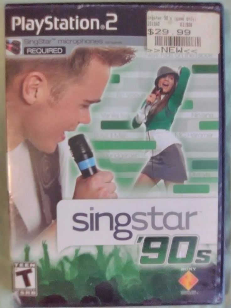 SingStar Pop & Singstar 90s 2 Games Playstation 2 PS2 Fast Shipping