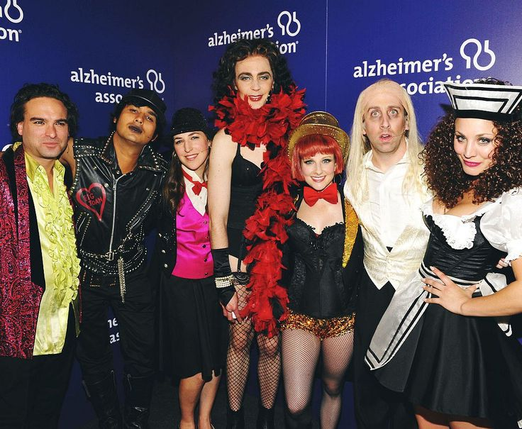 The cast of The Big Bang Theory at the 2013 A Night at Sardi's Gala benefiting the Alzheimer's Association. They performed The Time Warp from The Rocky Horror Picture Show.- so this happened.