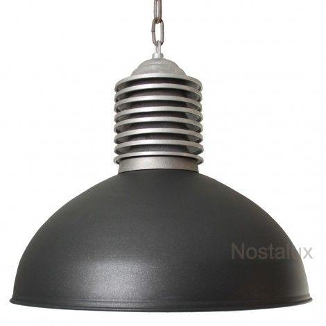 Stoer & Industrieel - Hanglamp Old Industry Antraciet
