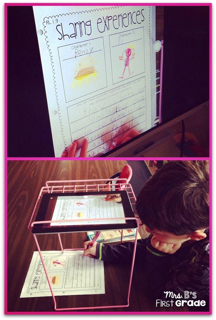 Mrs. B's First Grade: Locker Shelf iPad Document Camera!