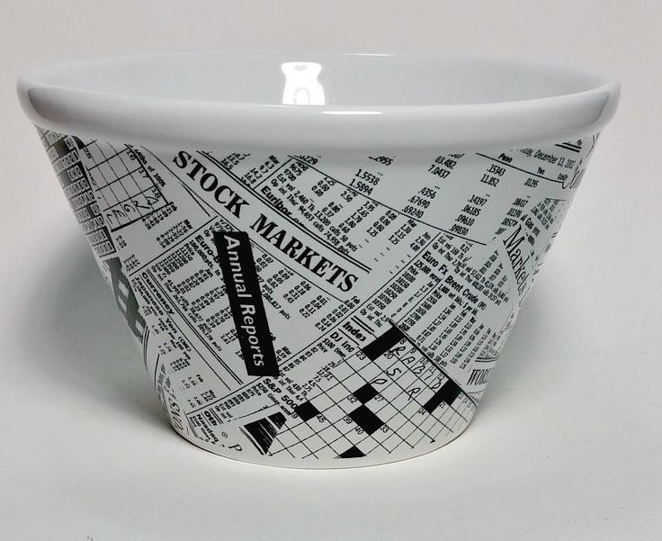 "Collectible Ceramic Bowl Wall Street Crossword Stock Market Financial 6"" x 3"" #SquareNest #Traditional"