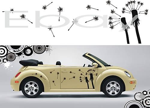 Vw beetle art flowers seed car vinyl decal stickers kit in vehicle parts accessories car tuning styling exterior styling