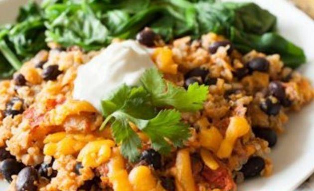 Quinoa-Black Bean Casserole