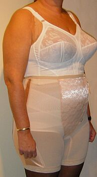 mature in corselette and pantygirdle took