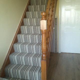 Stair carpet.