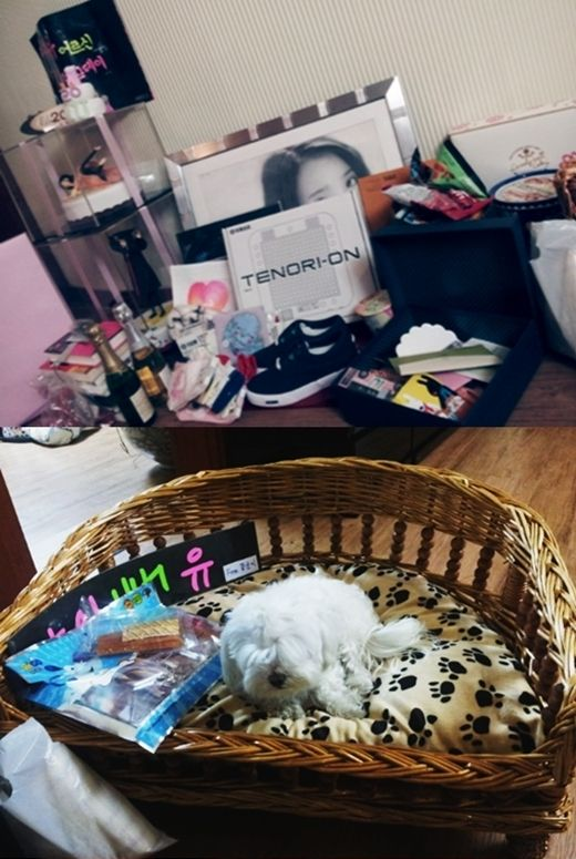 IU Spends An Hour Unwrapping Birthday Gifts From Fans