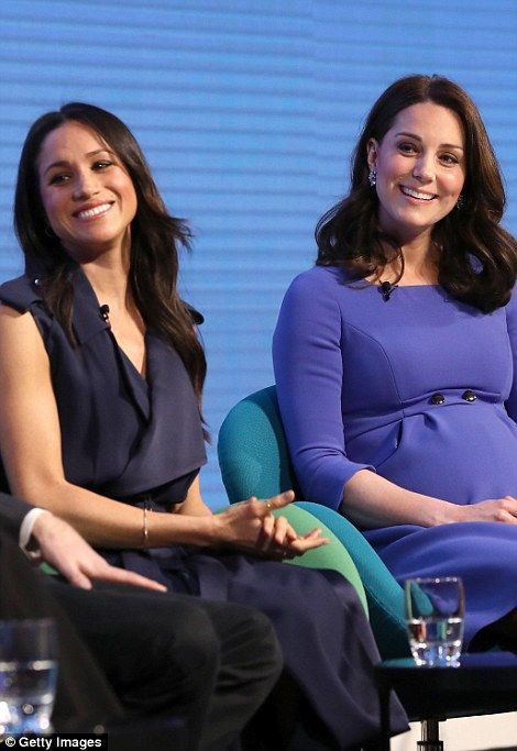 Meghan Markle has joined Prince Harry, Prince William and the Duchess of Cambridge in central London this morning to give updates on the Royal Foundation's charity projects.