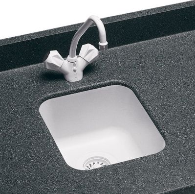 Swanstone Entertainment / Bar Sink Undermount   Black Galaxy (Pictured In  White)
