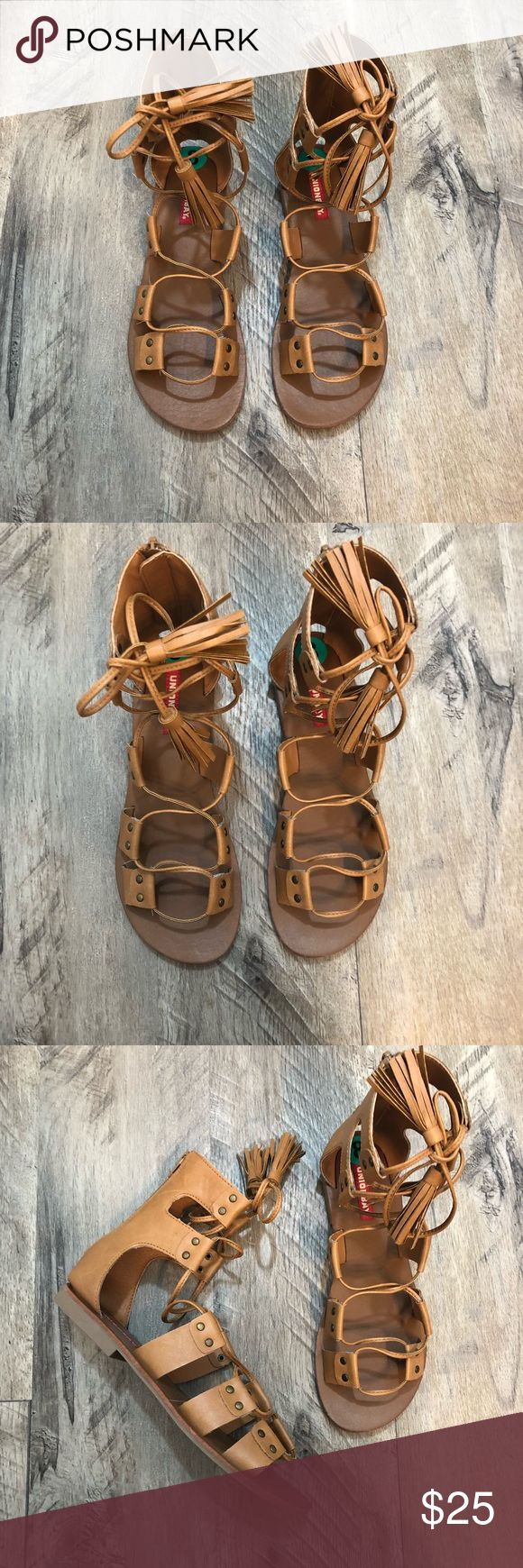 Gladiator Sandals Worn once brown gladiator sandals purchased from DSW. dsw Shoes