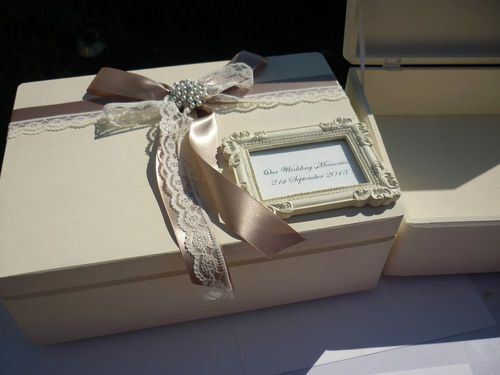 Bespoke Vintage Shabby Chic Style Wooden Wedding Card Post Box Keepsake Box | eBay