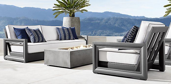 Costa Aluminum Furniture Collection Slate Rh Aluminum Furniture Furniture Outdoor Furniture Sets
