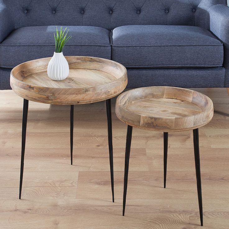 Design Beistelltisch PURE NATURE rund Mangoholz Couchtisch Holztisch Tisch | Möbel & Wohnen, Möbel, Tische | eBay!