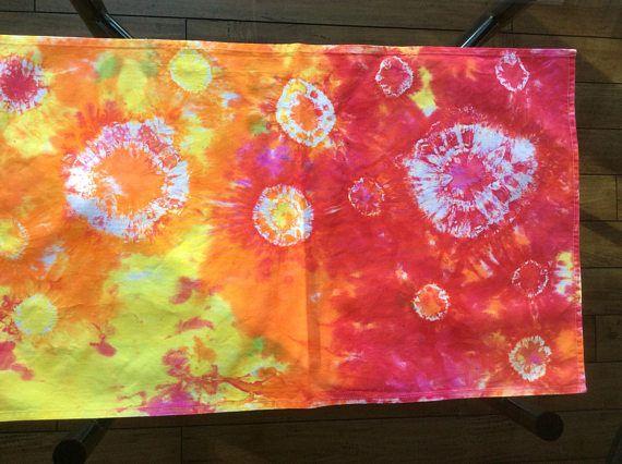 Tie Dye Tea Towel  Tie Dyed Kitchen Dish Cloth