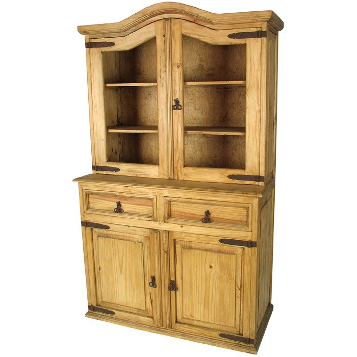 Beautiful Rustic Pine China Cupboard With Domed Top   Great Storage  Solution With The Upper Cabinets. Mexican Pine FurnitureRustic ...