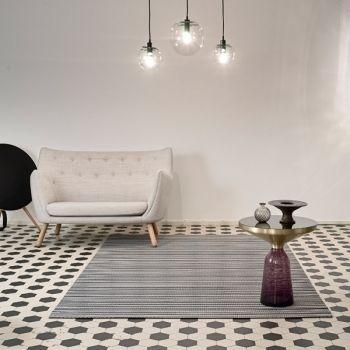 Midsummer carpet, white-graphite, by Woodnotes. Design by Ritva Puotila.
