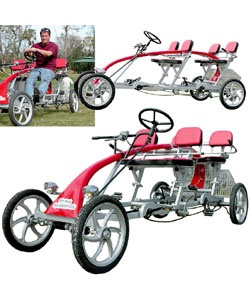 @Overstock - You've heard of a bicycle built for two. How about four? Impossible? No! This feature-rich bicycle is the ultimate toy for thosehttp://www.overstock.com/Sports-Toys/Four-person-Steel-Quad-Cycle-Roadster/1236855/product.html?CID=214117 $1,921.99