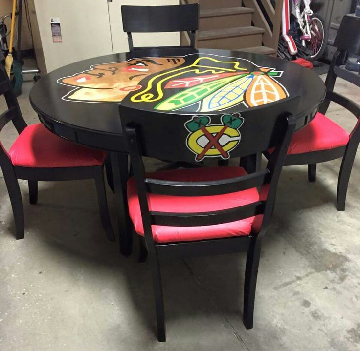 Blackhawk table and chairs selling at Garage sale 450 00 obo. 30 best Chicago Blackhawks images on Pinterest   Chicago