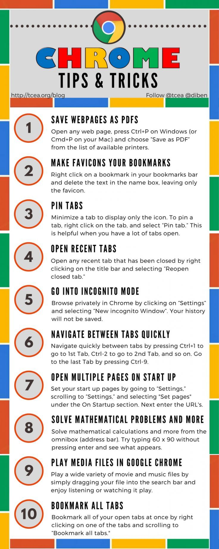Chrome Tips And Tricks Infographic Educational Infographic Teacher Tech Educational Technology