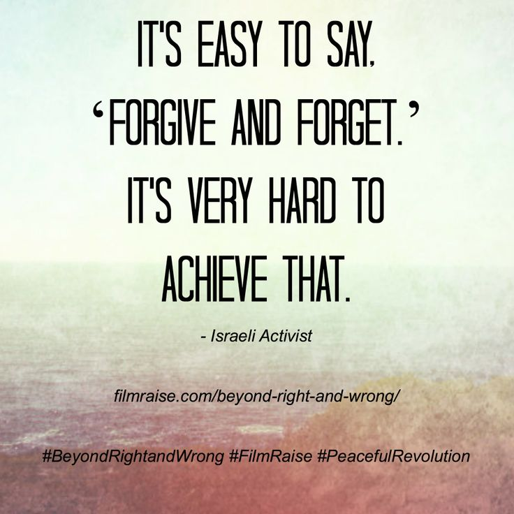 Essay about it is difficult to forgive