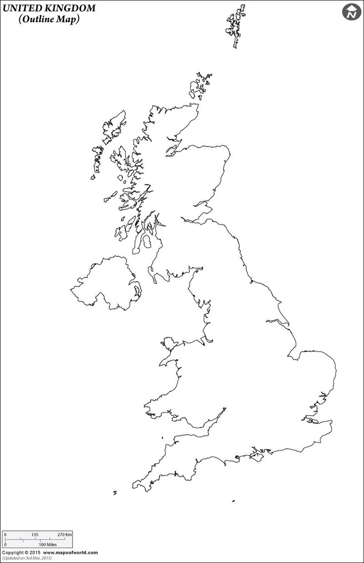 Outline Map Of United Kingdom Art Projects Map Outline