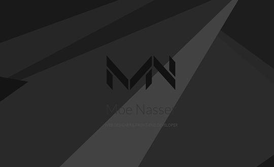 Moe Nasser WEB DESIGNER & FRONT-END DEVELOPER