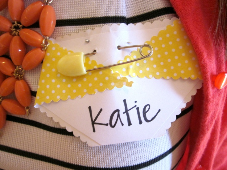 baby shower name tags
