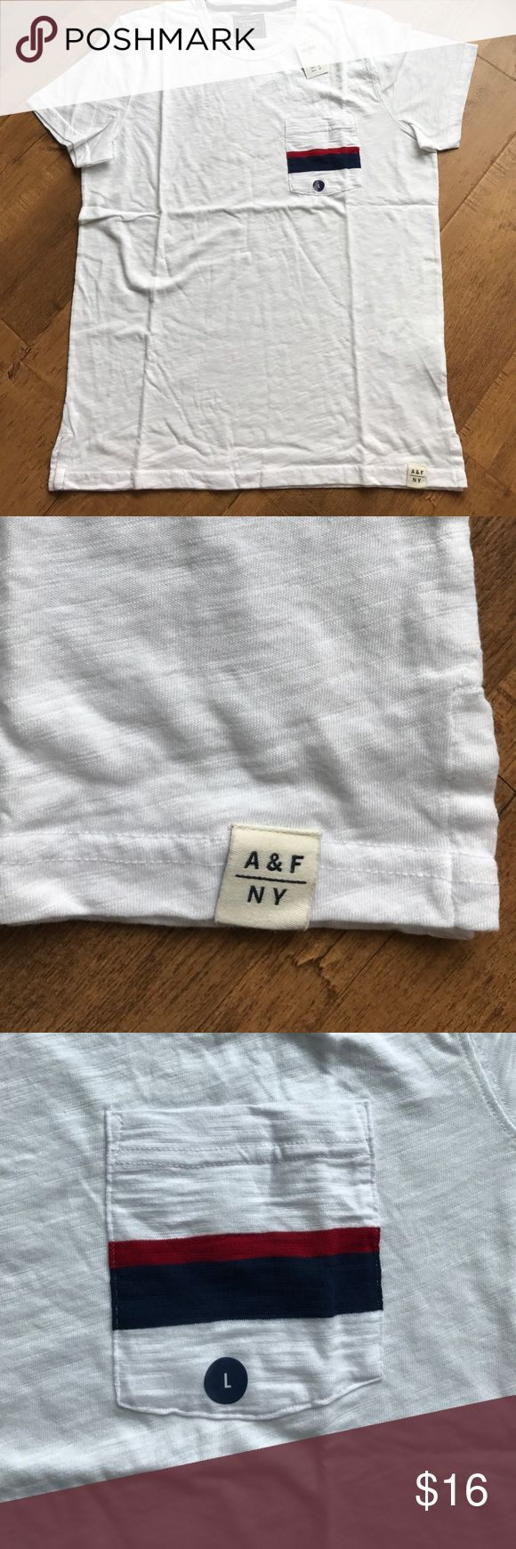 A&F men's nautical striped T-shirt Abercrombie and Fitch nautical pocketed men's tshirt Abercrombie & Fitch Shirts Tees - Short Sleeve