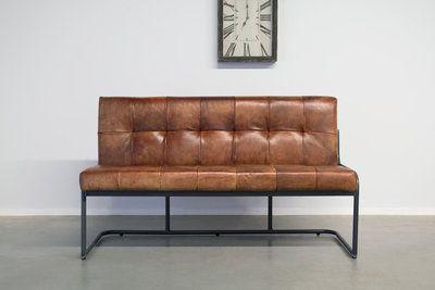 Buffalo Industrie Sitzbank WR - Vintage Leder Rückenlehne - Art. 196 WR