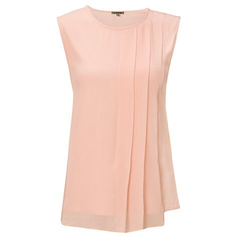 Buy Jigsaw Silk Overlay Top Online at johnlewis.com