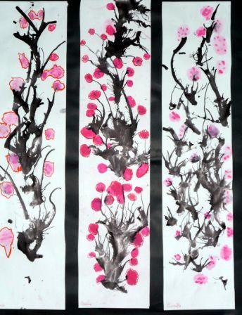 Cerisier du Japon fait par des enfants