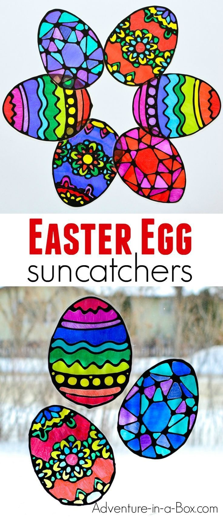 Easter Decorations Easter Window Decoration Decorated Fused Glass Easter Eggs Chained Patchwork Stained Glass Easter Eggs