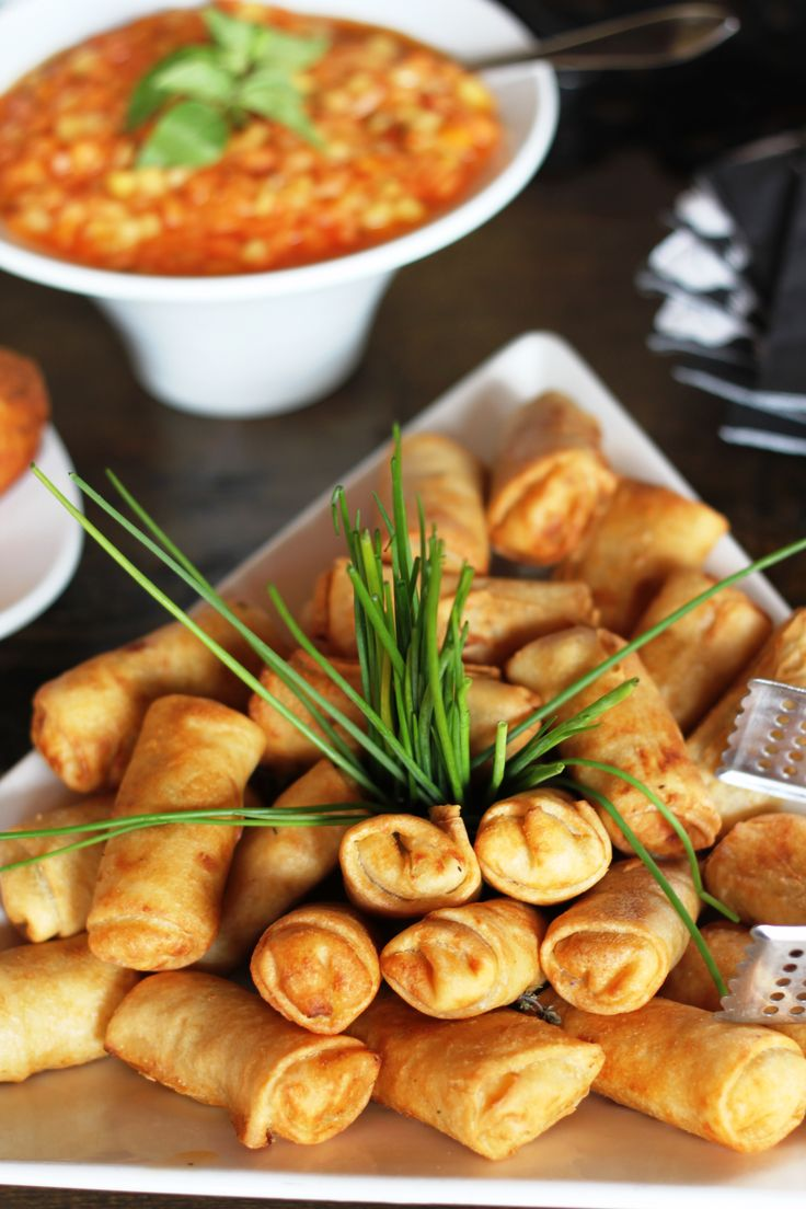 Our world-famous blue cheese spring rolls... heavenly!