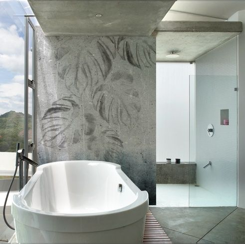 25 beste idee n over badkamer behang op pinterest gastenbadkamer kleine badkamer - Badkamer deco ideeen ...