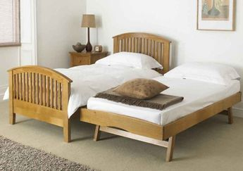 Furniture , Pop Up Trundle Beds : Wooden Pop Up Trundle Beds