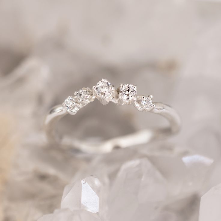 diamond band - bespoke engagement ring or a wedding band that can be stacked with other rings from 27JEWELRY workshop