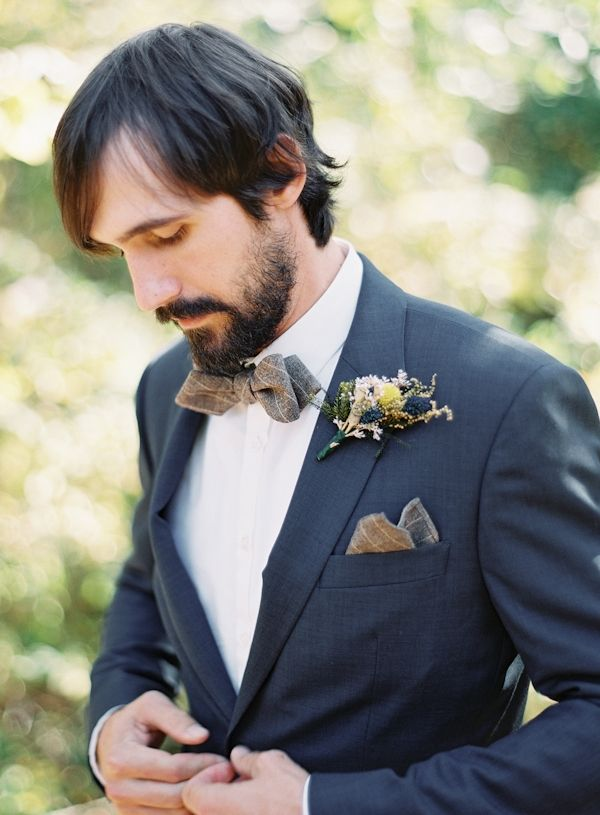 gotta love a groom in a blue suit // photo by Brett Heidebrecht