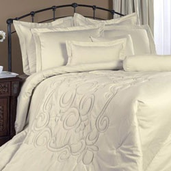 @Overstock - This 300 thread count, 100-percent cotton, fully reversible California king comforter set has a beautiful medallion quilting stitch. The comforter set includes a queen oversized comforter, queen bedskirt with and two flanged standard shams.  http://www.overstock.com/Bedding-Bath/Regency-Bone-California-King-4-piece-Comforter-Set/5938183/product.html?CID=214117 $164.99
